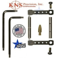 KNS Pins Anti Walk Pins Non Rotating Gen ST Spike's Side Plates Black .223 5.56 .308 AR 15 M4 M16 Best Discount Wholesale AR Parts and Accessories Austin Texas 1 .223 5.56 .308 AR 15 M4 M16 Best Discount Wholesale AR Parts and Accessories Austin Texas Stainless Steel KNS Anti walk PIn Gen St Black