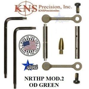KNS Pins Anti Walk Pins Non Rotating Gen Northrop Mod 2 Side Plates OD Green